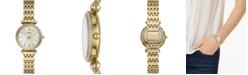 Fossil Women's Carlie Mini Gold-Tone Stainless Steel Bracelet Watch 28mm