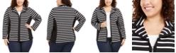 Karen Scott Plus Size Notch Collar Zip-Front Jacket, Created for Macy's