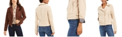 Tommy Hilfiger Faux-Suede Moto Jacket, Created for Macy's