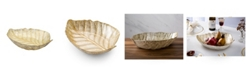 Classic Touch gold tone Leaf Shaped Dish