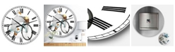 "Designart Riding Bikes Large Modern Wall Clock - 36"" x 28"" x 1"""