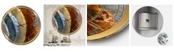"Designart Mineral Slice Xv Oversized Fashion Wall Clock - 36"" x 28"" x 1"""