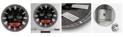 "Designart Smiling Red Lips Neon Skull Large Modern Wall Clock - 23"" x 23"" x 1"""