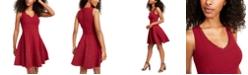 City Studios Juniors' V-Neck Tiered Dress