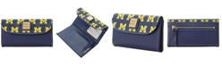 Dooney & Bourke Michigan Wolverines Saffiano Continental Clutch