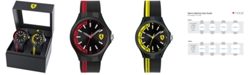 Ferrari Men's Basics Black Silicone Strap Watch 38mm & 44mm Gift Set