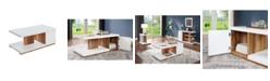 Furniture of America Jasmino Open Shelf Coffee Table