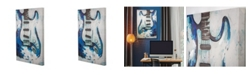 Crystal Art Gallery American Art Decor Blue Guitar Embellished Wrapped Canvas Art Print