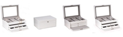 Bey-Berk Lacquer Large Jewelry Chest with Multi-Compartment Storage
