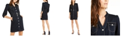 INC International Concepts INC Belted Denim Shirtdress, Created for Macy's