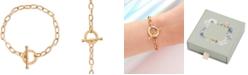 Olivia Burton Crystal Link Toggle Bracelet