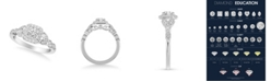 Macy's Diamond Princess Engagement Ring (5/8 ct. t.w.) in 14k White, Yellow and Rose Gold