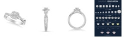 Macy's Diamond Halo Engagement Ring (5/8 ct. t.w.) in 14k White, Yellow or Rose Gold