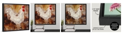 "GreatBigCanvas Backyard Guest I' Framed Canvas Wall Art, 16"" x 16"""