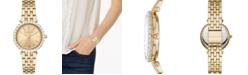 Michael Kors Women's Darci Gold-Tone Stainless Steel Bracelet Watch 34mm