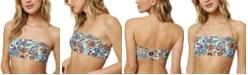 O'Neill Juniors' Priscilla Printed Bandeau Bikini Top