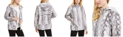 Ideology Snake-Print Hooded Jacket, Created for Macy's