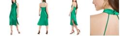 bebe Satin Midi Dress