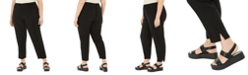 Eileen Fisher Plus Size Silk Tapered Pants