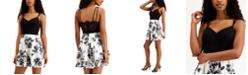 City Studios Juniors' Lace-Back Fit & Flare Dress