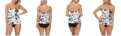 Island Escape Aloha Bloom Printed Tiered Tankini Top & Swim Bottoms, Created for Macy's