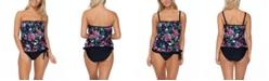 Island Escape Dahlia Floral Coral Gables Printed Tankini Top & Swim Bottoms, Created for Macy's