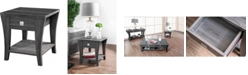 Furniture of America Ami 1-Drawer End Table
