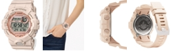 G-Shock Women's Digital Power Trainer Blush Resin Strap Watch 45.2mm