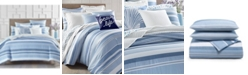 Charter Club Coastal Stripe 300-Thread Count Twin Duvet Set, Created for Macy's