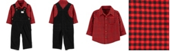 Carter's Baby Boy 2-Piece Plaid Button-Front Shirt & Corduroy Overall Set