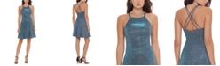 Betsy & Adam Metallic Fit & Flare Dress