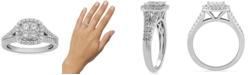 Macy's Diamond Halo Cluster Ring (3/4 ct. t.w.) in 10k White Gold