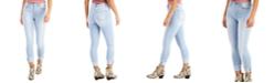 Celebrity Pink Juniors' High-Rise Cuffed Skinny Jeans
