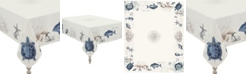 """Laural Home Seaside Postcard Tablecloth -  70"""" x 84"""""""