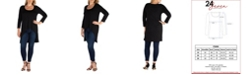 24seven Comfort Apparel Women's Plus Size Long Sleeves Dolman Tunic Top