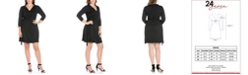 24seven Comfort Apparel Women's Plus Size Collared Wrap Dress