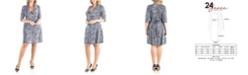 24seven Comfort Apparel Women's Plus Size Leopard Print A-Line Dress