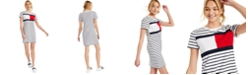 Tommy Hilfiger Striped Logo T-Shirt Dress