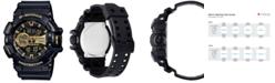 G-Shock Men's Analog-Digital Chronograph Black Resin Strap Watch 55x52mm GA400GB-1A9