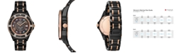 Bulova Women's Diamond-Accent Marine Star Two-Tone Ceramic Bracelet Watch 37mm