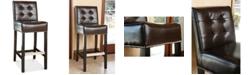 Furniture Avanti Leather Bar Stool, Quick Ship