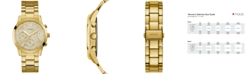 GUESS Gold-Tone Stainless Steel Bracelet Watch 40mm