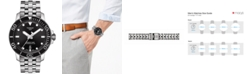 Tissot Men's Swiss Automatic T-Sport Seastar 1000 Gray Stainless Steel Bracelet Diver Watch 43mm