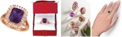 Le Vian Amethyst (2-1/2 ct. t.w.) & Diamond (1/3 c.t. t.w.) Ring in 14k Rose Gold