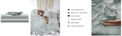 Pillow Guy Classic Cool & Crisp 100% Cotton Percale 4-Piece Sheet Set- Queen