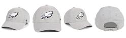 '47 Brand Philadelphia Eagles Heathered Black White MVP Adjustable Cap
