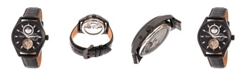 Heritor Automatic Sebastian Black Leather Watches 40mm