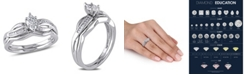 Macy's Certified Diamond (1/2 ct. t.w.) Marquise-Shape Bridal Set in 14k White Gold