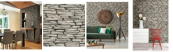 "Brewster Home Fashions Ledge Slate Wall Wallpaper - 396"" x 20.5"" x 0.025"""