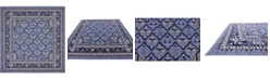Bridgeport Home Aldrose Ald2 Blue 8' x 8' Square Area Rug